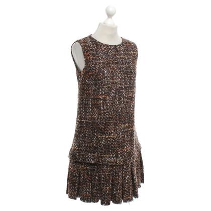 Dolce & Gabbana abito di tweed in marrone / arancio