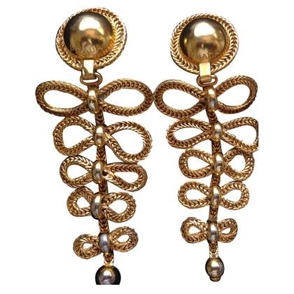 Prada gold plated earrings