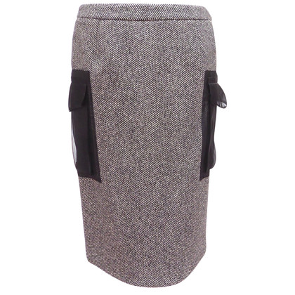 Christian Dior Tweed skirt with silk bags