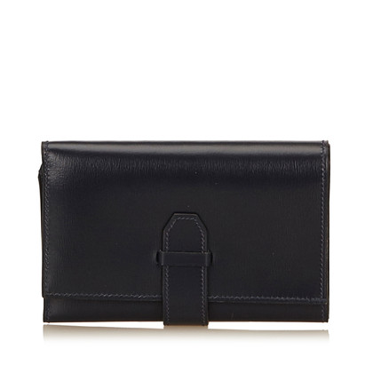 Hermès Calf Leather Trifold Long Wallet