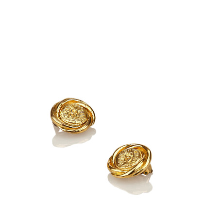 Chanel Gold-Ton Clip auf Ohrringe