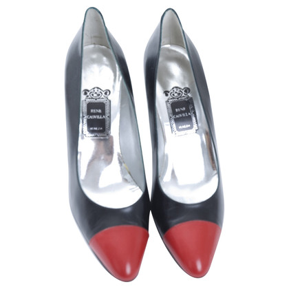 René Caovilla Pumps in Schwarz/Rot