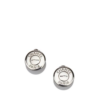 Chanel Silver-tone Clip On Earrings
