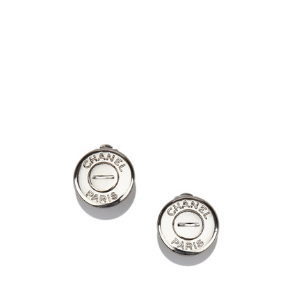 Chanel Silber-Ton Clip On Ohrringe