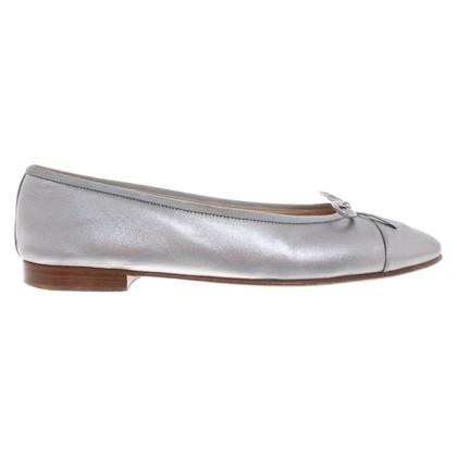 Chanel Ballerina's in zilver