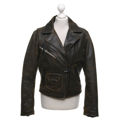 Harley Davidson Leather jacket in used look