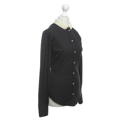 Paul Smith Bluse in Schwarz/Creme