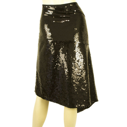 DKNY DKNY Black Sequins skirt Sz L