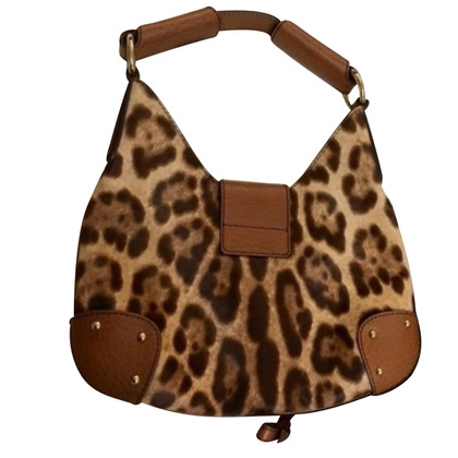 Dolce & Gabbana Buckle bag with leopard print