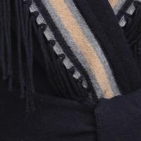 Bogner Veste bleu foncé avec une frange