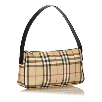 Burberry Plaid PVC Shoulder Bag