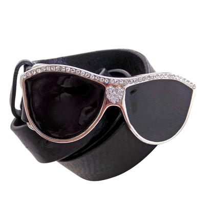 Moschino Love riem met zonnebril slotje