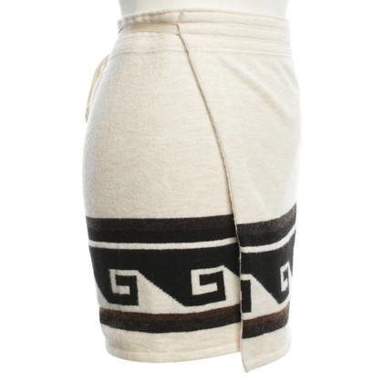 Isabel Marant Wrap skirt in cream white