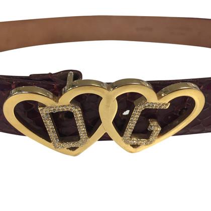 Dolce & Gabbana Schlangenleder-Gürtel