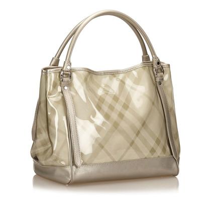 Burberry Plaid PVC Tote Bag