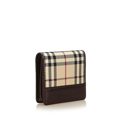 Burberry Plaid Nylon Coin Pouch