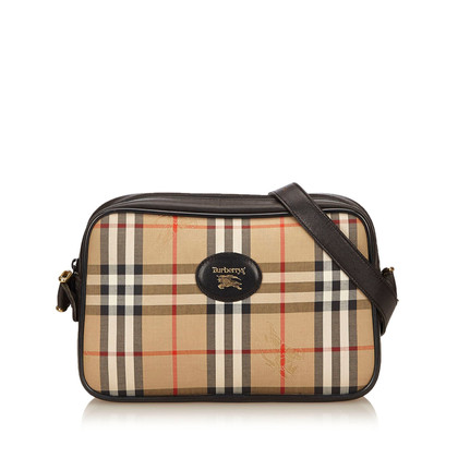 Burberry Plaid Jacquard Schultertasche