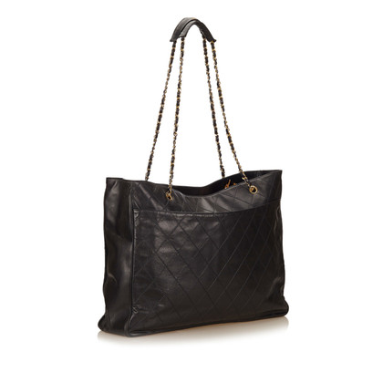 Chanel Leren Tote Bag
