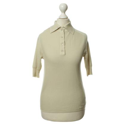Chloé Cream-colored cashmere polo shirt