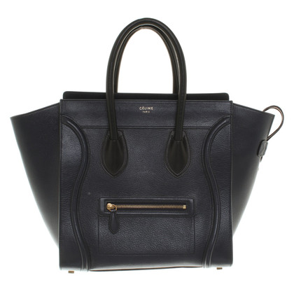 "Céline ""Mini Luggage Bag"" in Dunkelblau"