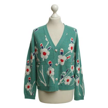 Chanel Cashmere cardigan in verde chiaro