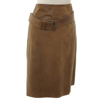 Miu Miu Leather skirt in Brown
