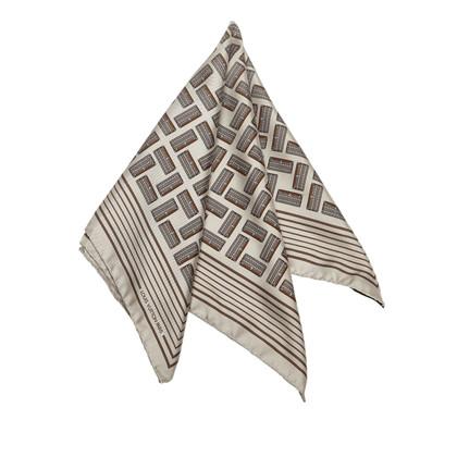 Louis Vuitton Gedrukte Zijde Sjaal