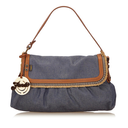 Fendi Chef Denim Flap Bag