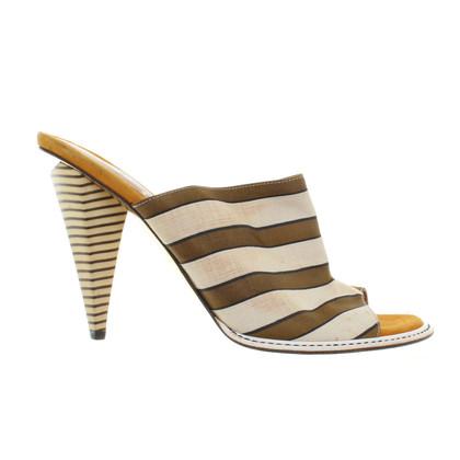 Fendi Peeptoes Stripe