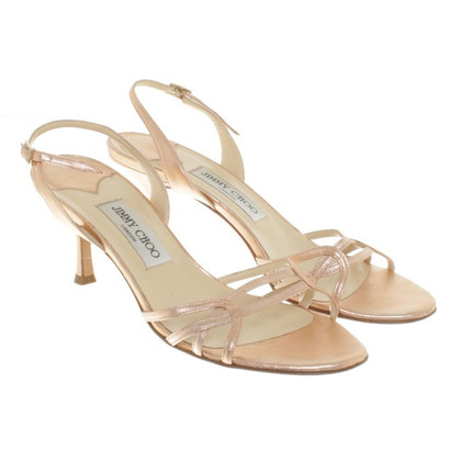 Jimmy Choo Sandali di color rosa vernice
