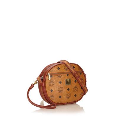MCM Visetos Leather Shoulder Bag