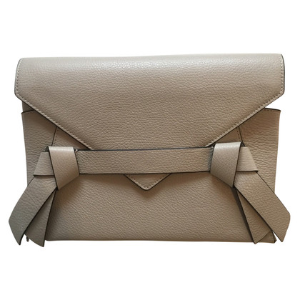 BCBG Max Azria Leather-clutch with loops