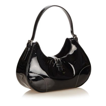Prada Patent Leather Hobo Bag