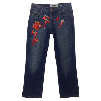 Moschino Jeans mit Stickerei