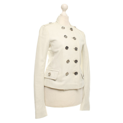 Dolce & Gabbana Leatherblazer in white