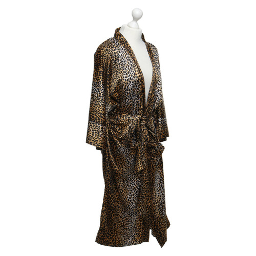 D&G Dressing gown with leopard print - Second Hand D&G Dressing gown ...