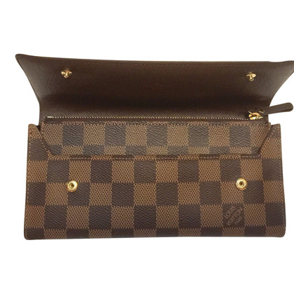 Louis Vuitton Portemonnaie aus Damier Ebene Canvas