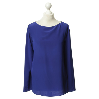 Akris Royal blue silk blouse