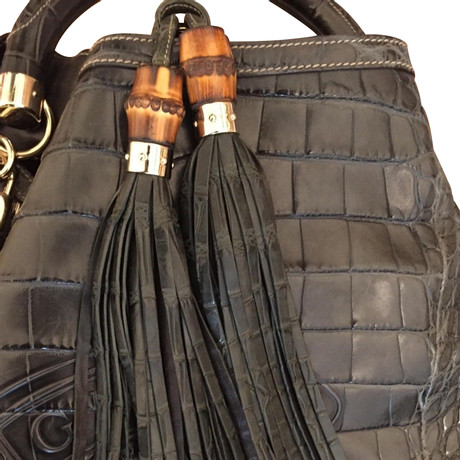 Gucci Handtasche aus Krokodilleder Andere Farbe Auslass Erhalten Zu Kaufen Online Einkaufen Günstig Kaufen Für Billig Auslass Perfekt Billig Vermarktbare vp3anQ