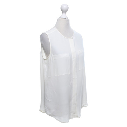 Theory Zijden blouse in crème