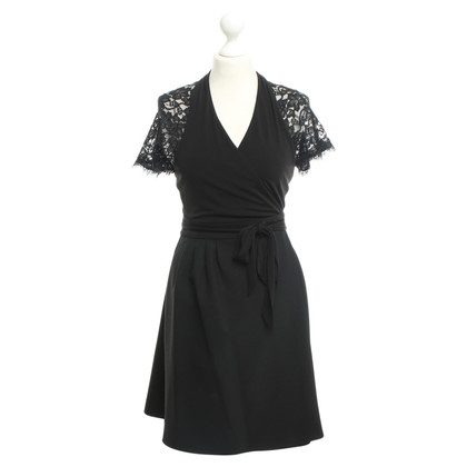 Diane von Furstenberg Black dress with lace