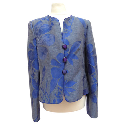 Armani Collezioni Linen jacket with pattern