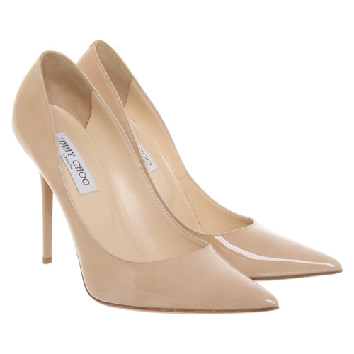 5f4f92280c9 Jimmy Choo Pumps/Peeptoes Patent leather in Beige - Second Hand ...
