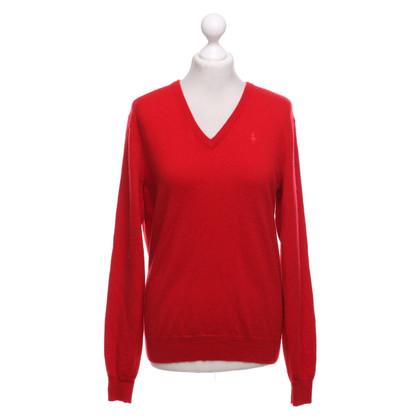 Ralph Lauren Kasjmier trui in rood