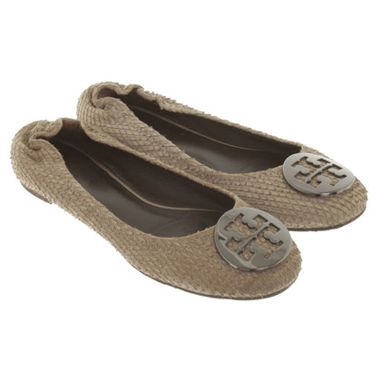 Tory Burch Ballerinas with reptile embossing