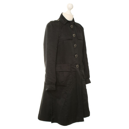 Gucci Zijde Trenchcoat in zwart