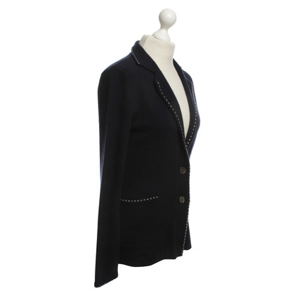Allude Cashmere Blazer in Dark Blue