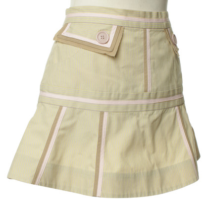 Marc by Marc Jacobs Striped skirt in beige