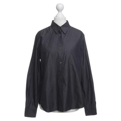 Jil Sander camicetta di cotone in grigio