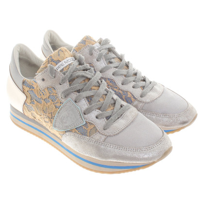 Philippe Model Metallic-look sneakers